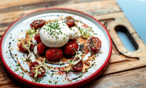 Burrata at Scarlett | Brunch in Hong Kong | Delicious Staycations in Hong Kong